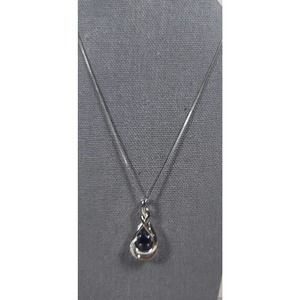 Sterling Silver Floating Stone Infinity Necklace